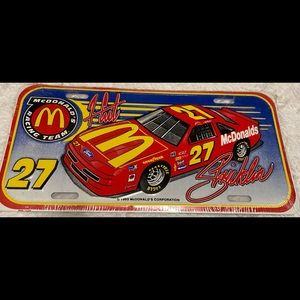 1993 NASCAR McDonald's License Plate NEW Vintage